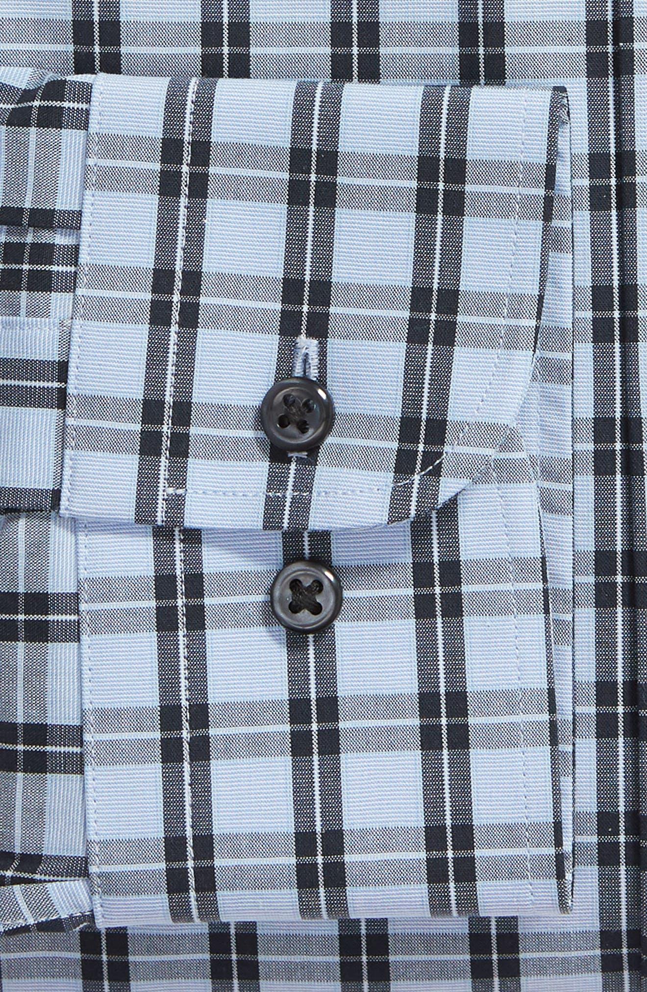 ,                             Tech-Smart Trim Fit Stretch Check Dress Shirt,                             Alternate thumbnail 6, color,                             NAVY DUSK