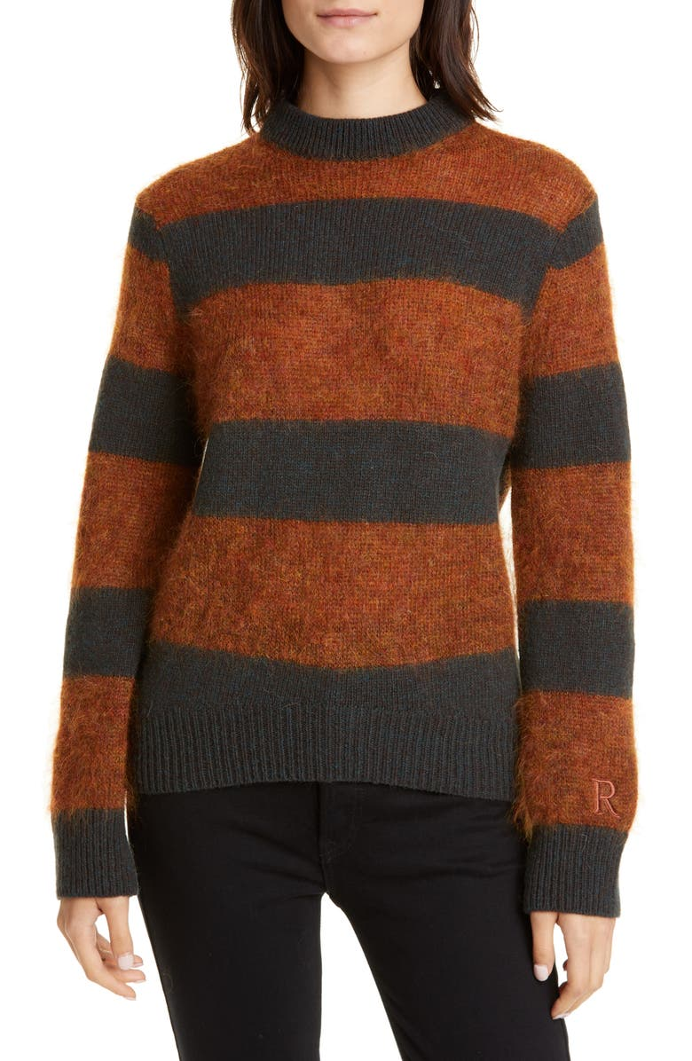 ROSEANNA Stripe Wool & Mohair Blend Sweater, Main, color, MULTI FORET