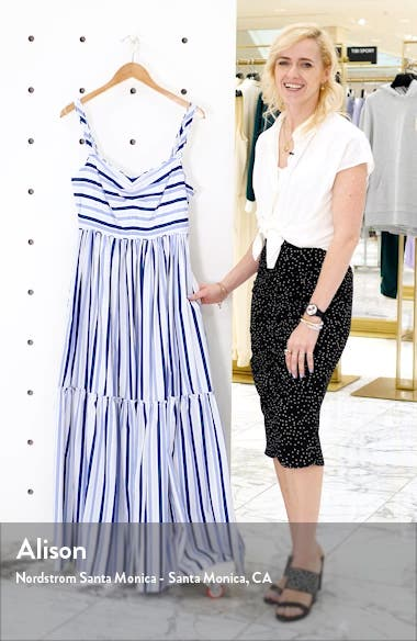 Shirting Stripe Tiered Maxi Dress, sales video thumbnail