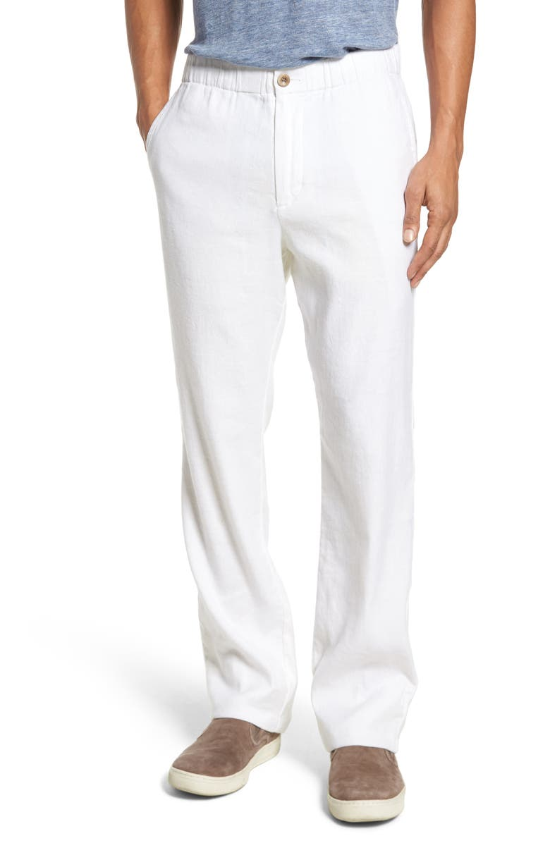 TOMMY BAHAMA Relaxed Fit Linen Pants, Main, color, CONTINENTAL