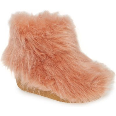 Jeffrey Campbell Fluffy Faux Fur Bootie- Pink