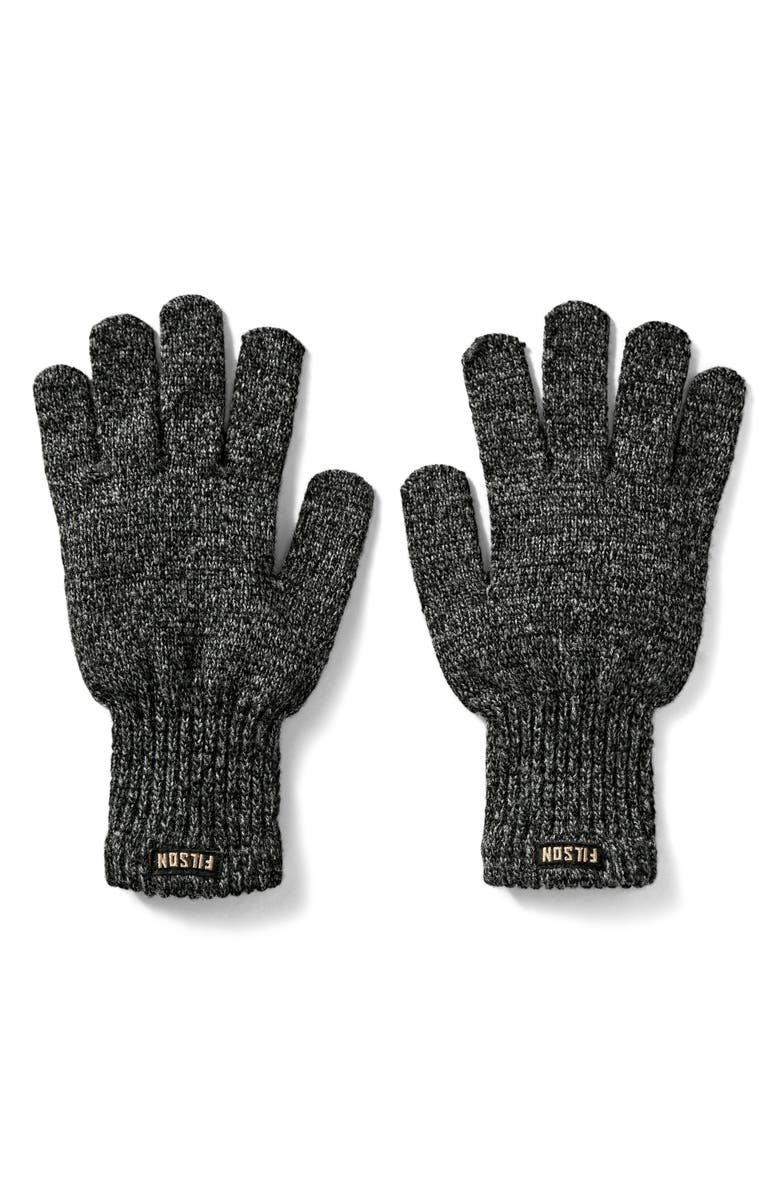 FILSON Wool Blend Knit Gloves, Main, color, CHARCOAL