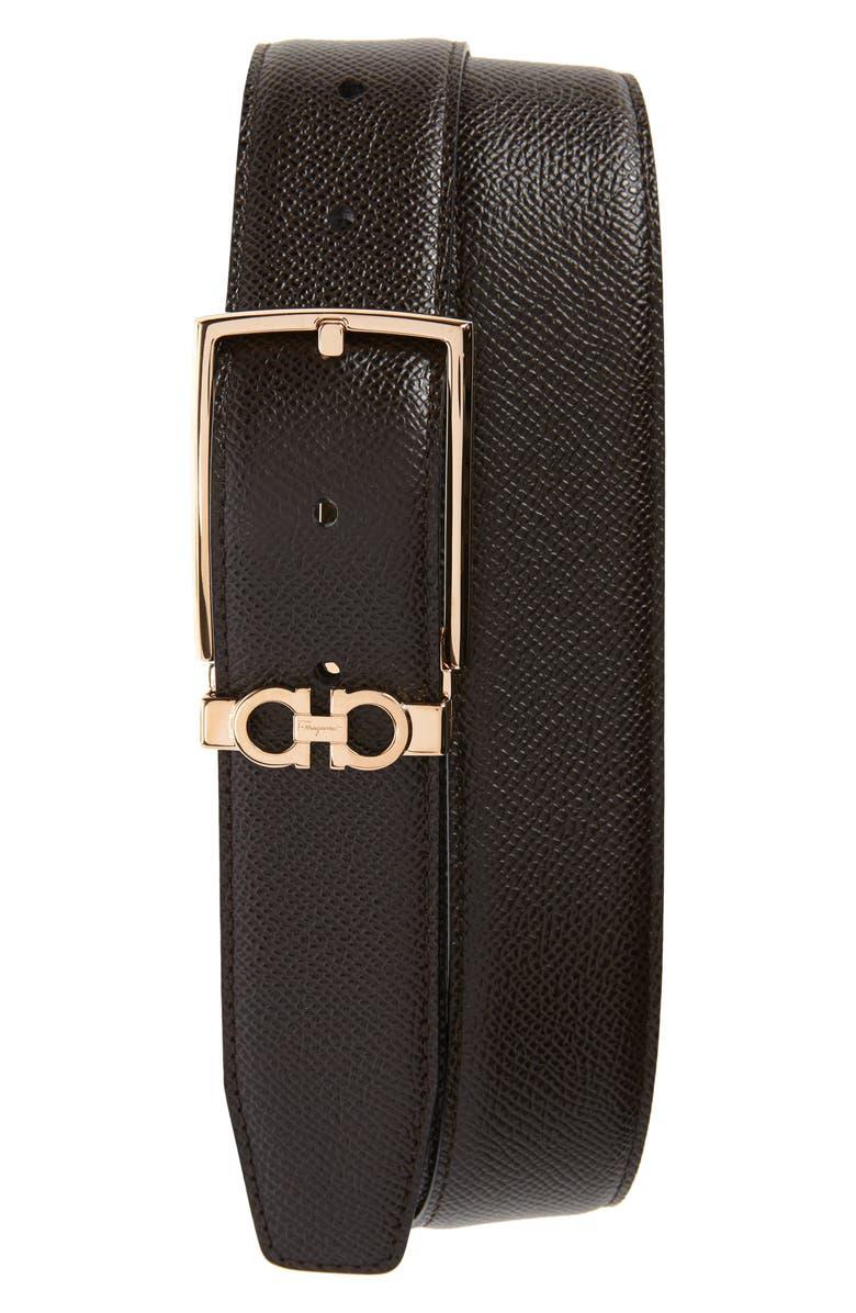 SALVATORE FERRAGAMO Reversible Leather Belt, Main, color, 240