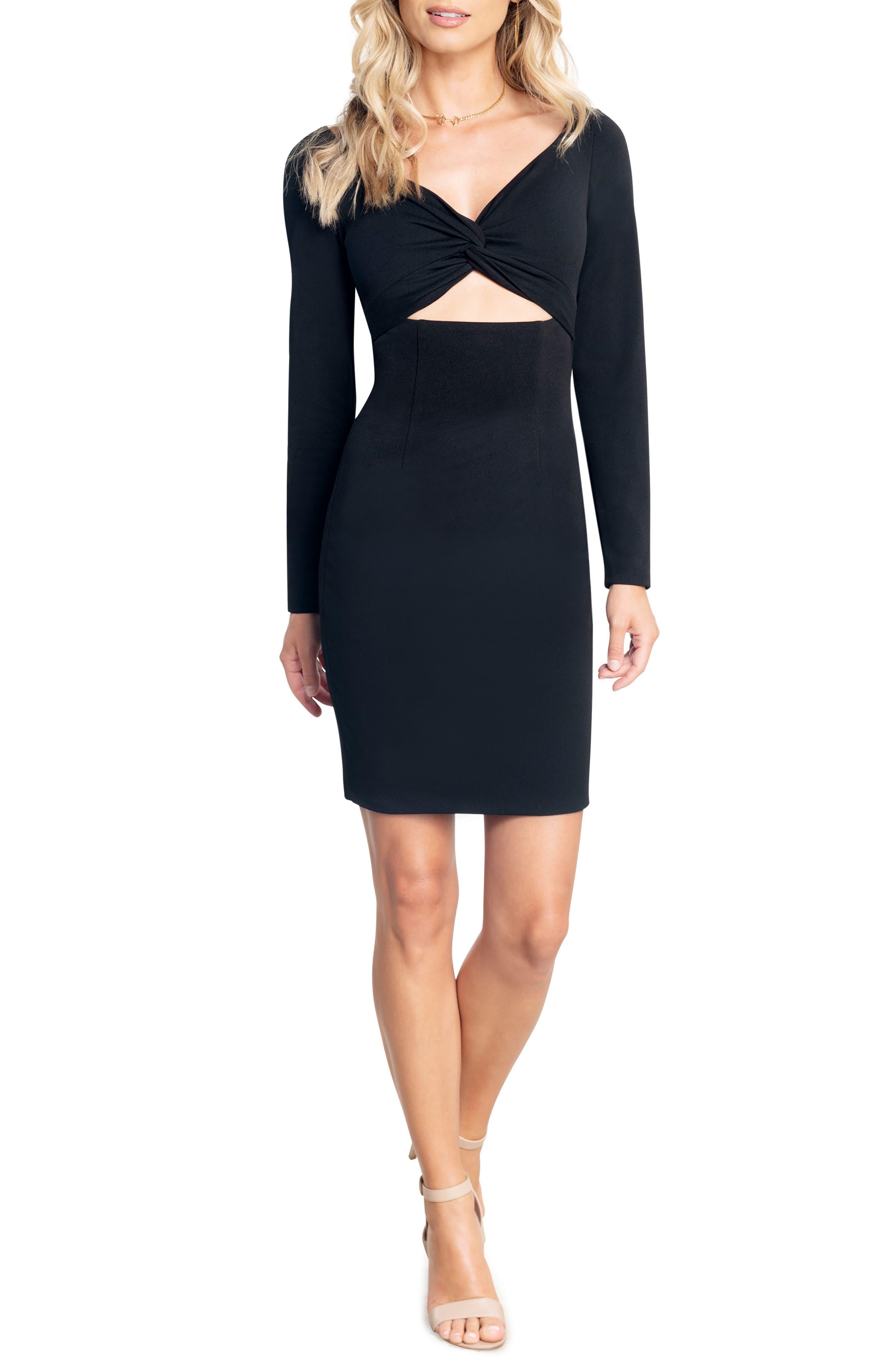 Jade Long Sleeve Cutout Dress