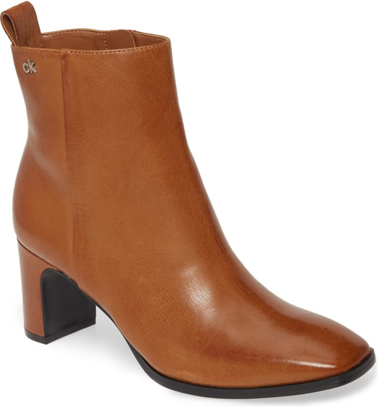 CALVIN KLEIN Deni Bootie, Main, color, RUSSET LEATHER