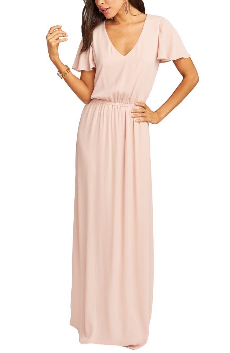 SHOW ME YOUR MUMU Michelle Maxi Dress, Main, color, DUSTY BLUSH