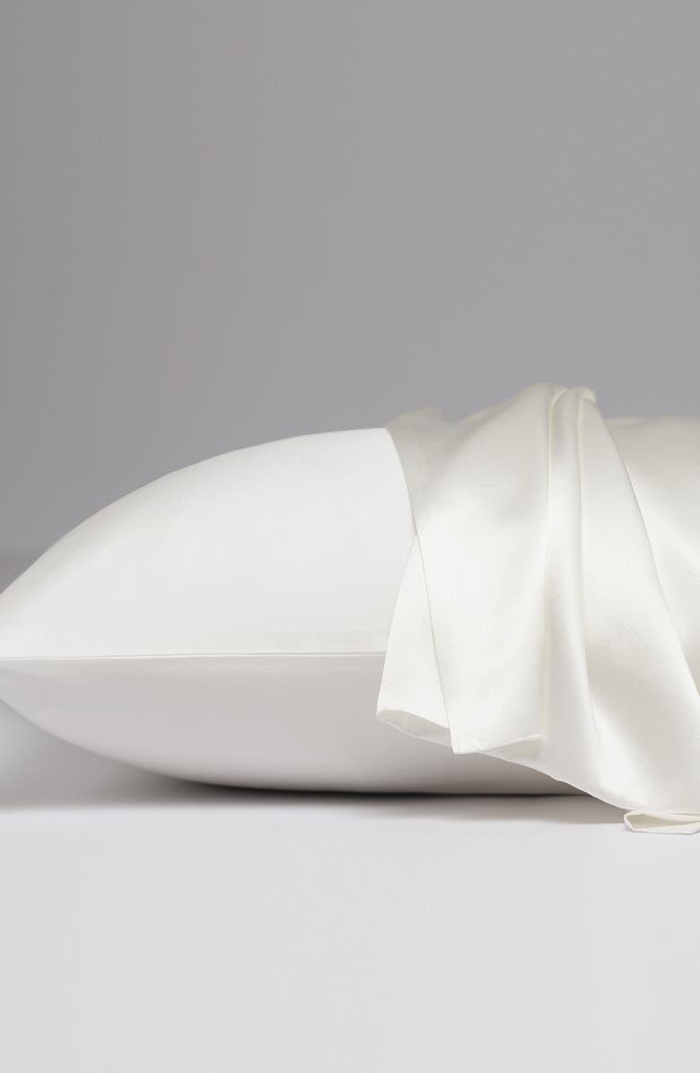 ALLIED HOME Silk Satin Pillowcase, Main, color, IVORY