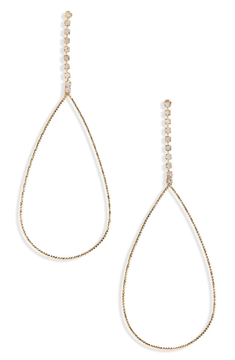 PANACEA Hammered Teardrop Earrings, Main, color, GOLD