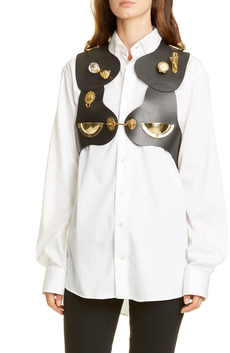 COMME DES GARÇONS Embellished Rubber Harness, Main, color, 001