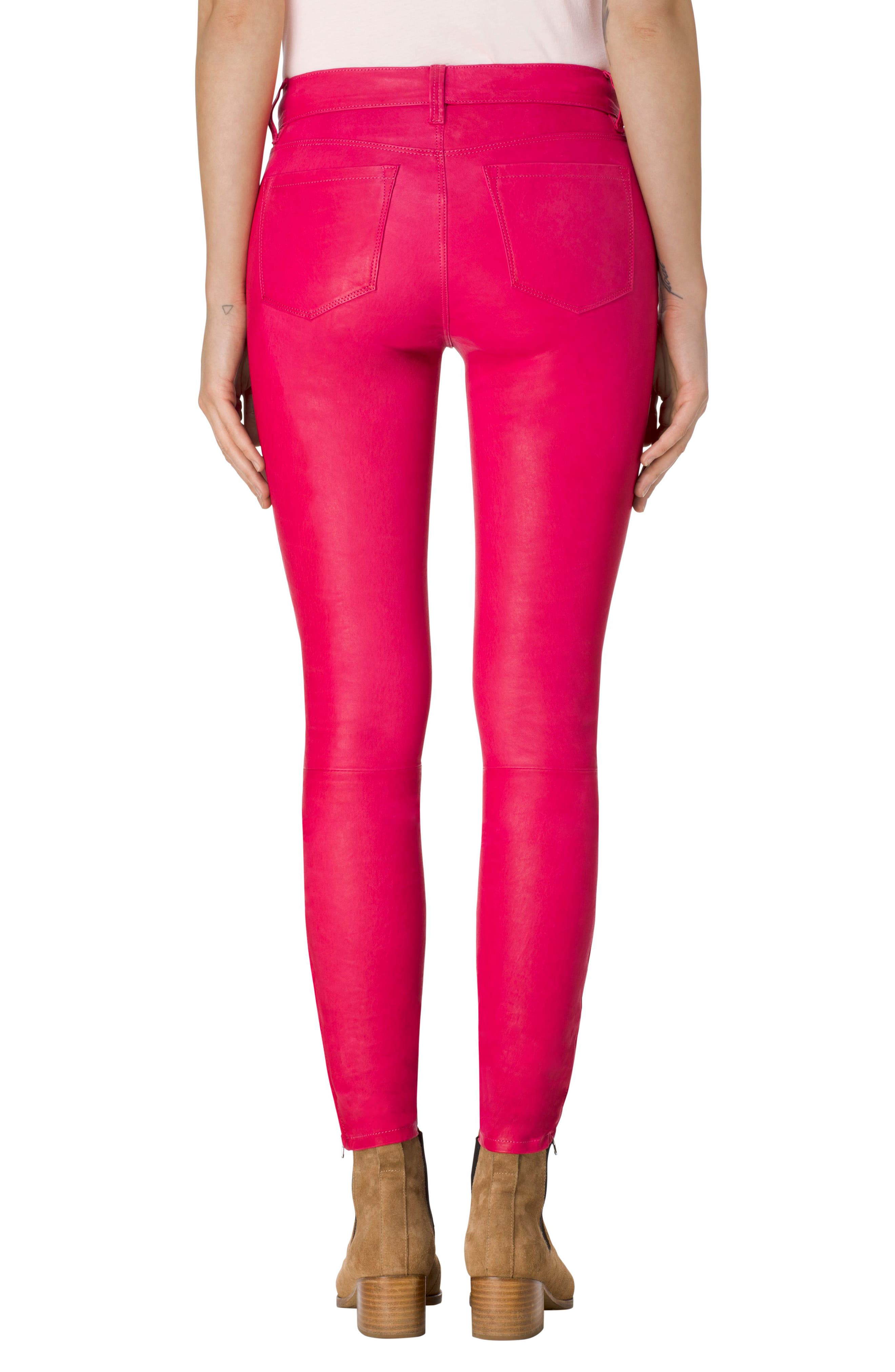 ,                             '8001' Lambskin Leather Pants,                             Alternate thumbnail 76, color,                             670