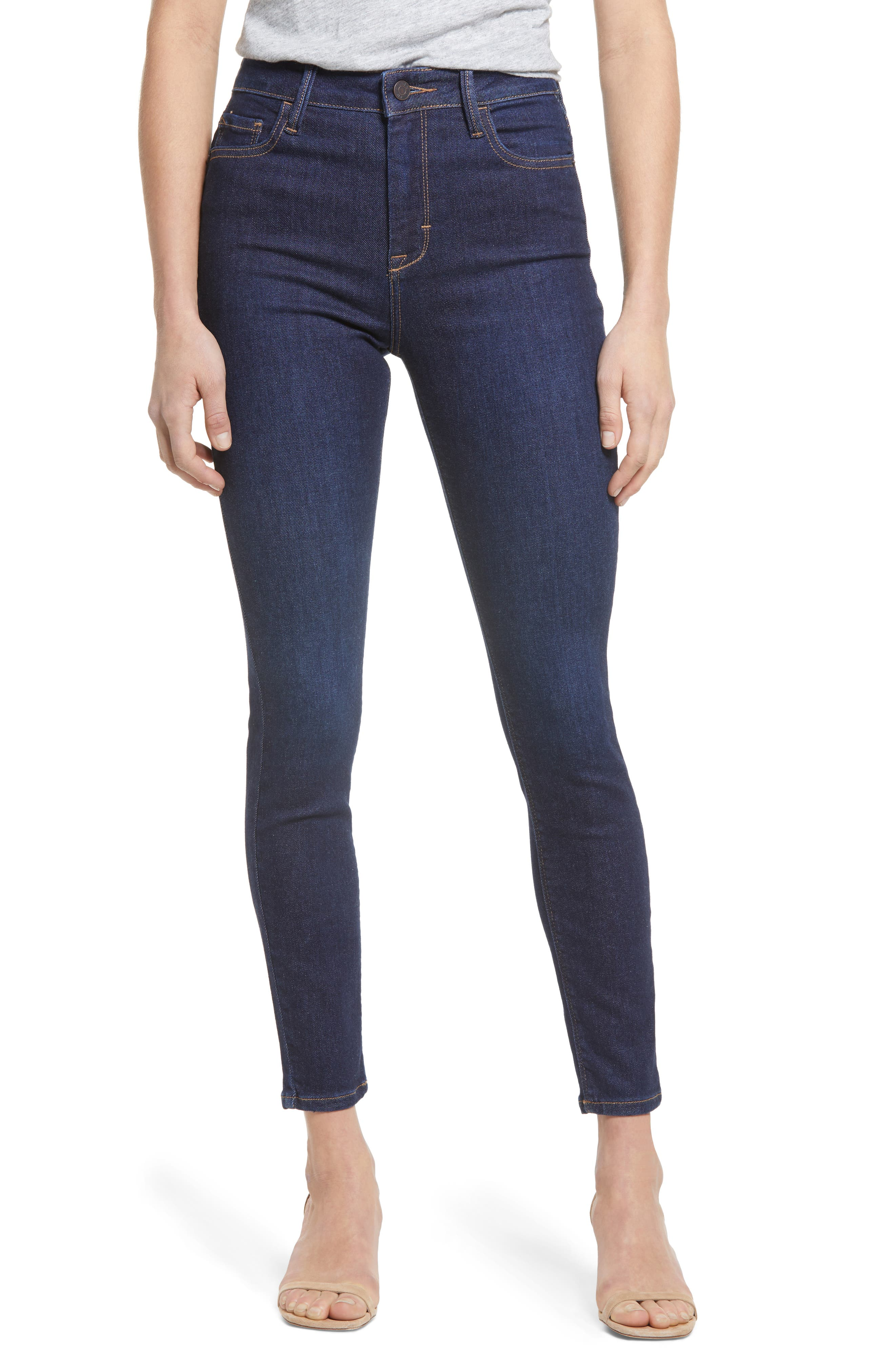 Clean High Waist Ankle Skinny Jeans
