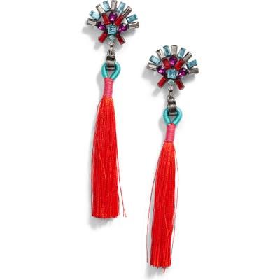 Knotty Crystal Tassel Drop Earrings
