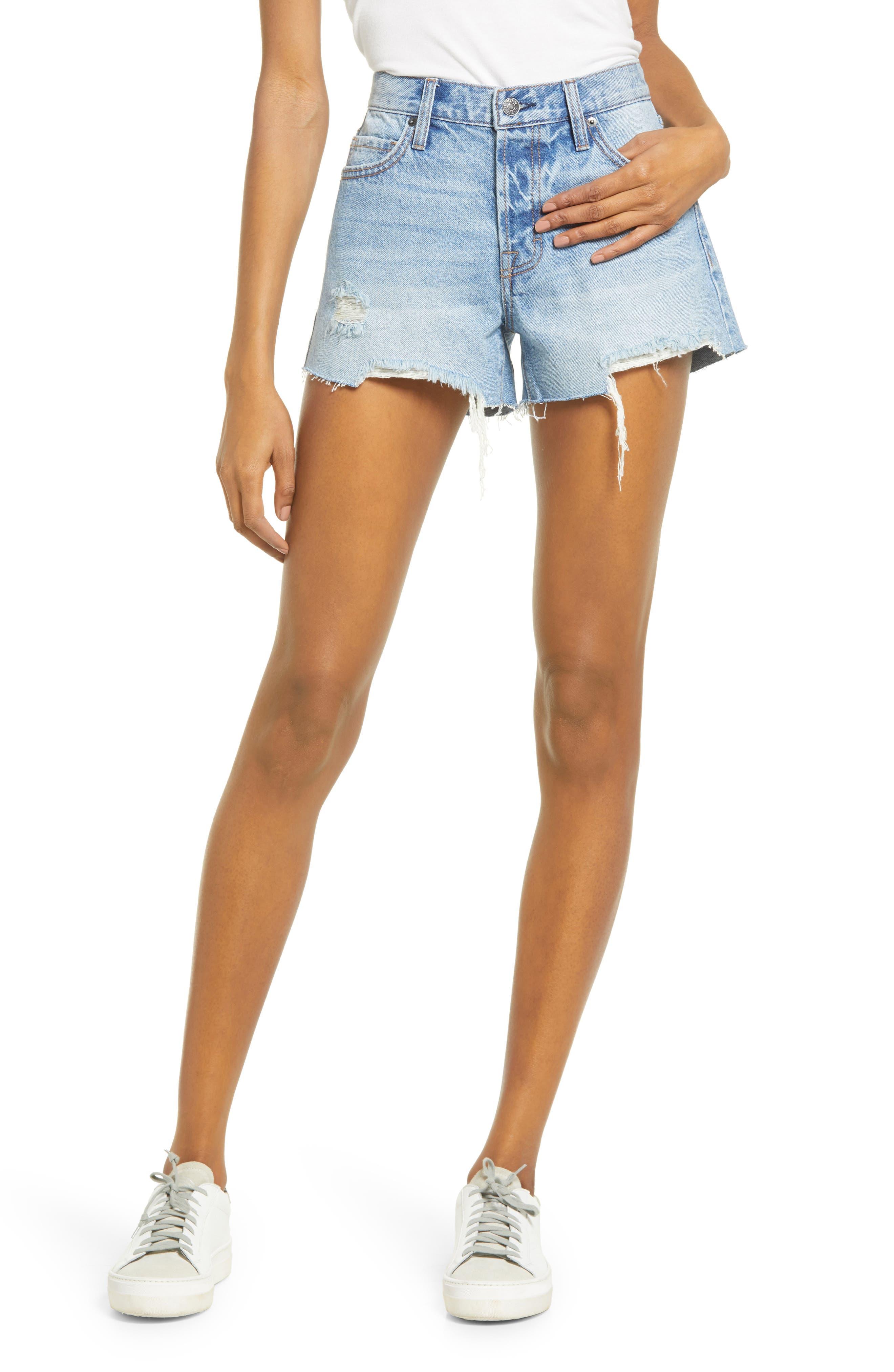 Ripped Cutoff Denim Shorts