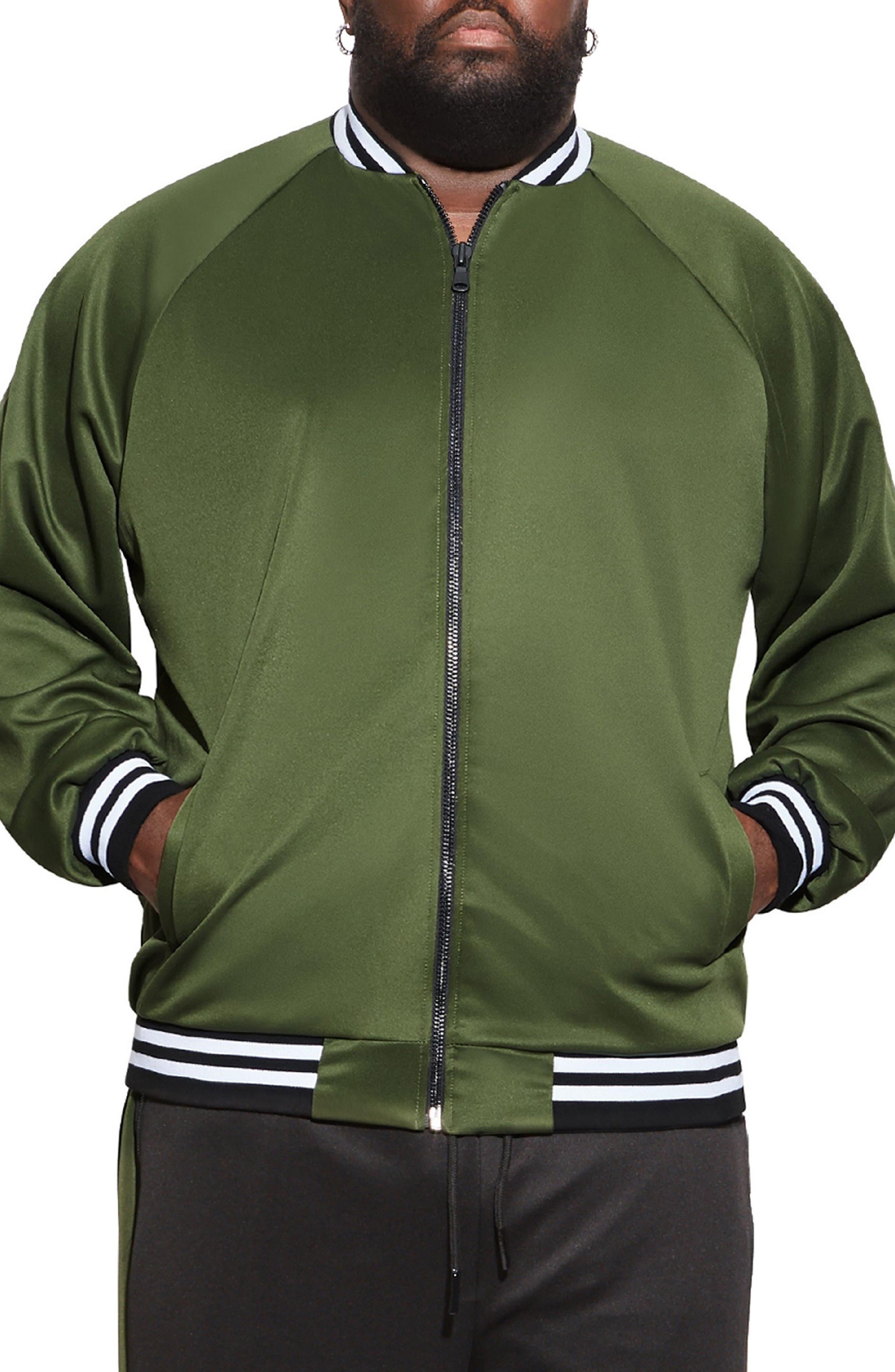 Stripe Bomber Jacket