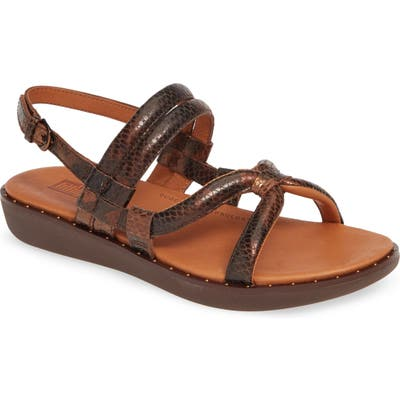 Fitflop Barely Dotted Snake Print Sandal, Brown (Nordstrom Exclusive)