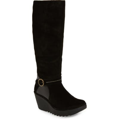 Fly London Yavu Knee High Boot - Black