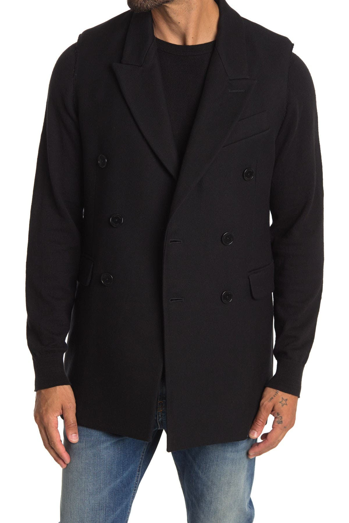 Image of Zadig & Voltaire Vinam Wool Blend Double Breasted Jacket