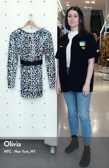 Wanda Long Sleeve Sequin Minidress, sales video thumbnail