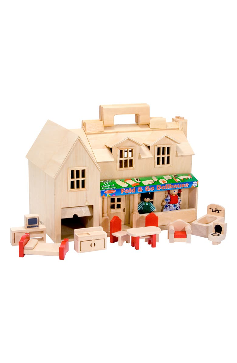 MELISSA & DOUG Fold & Go Mini Dollhouse, Main, color, 960