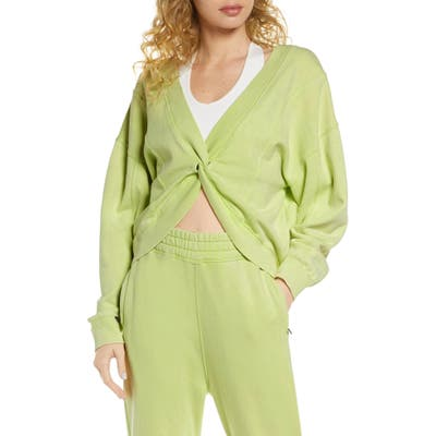 Free People Fp Movement Go For Gold Reversible Sweatshirt, Green