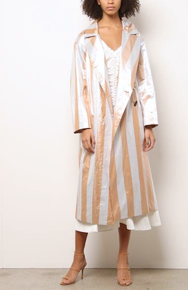 Ida Stripe Trench Coat, video thumbnail