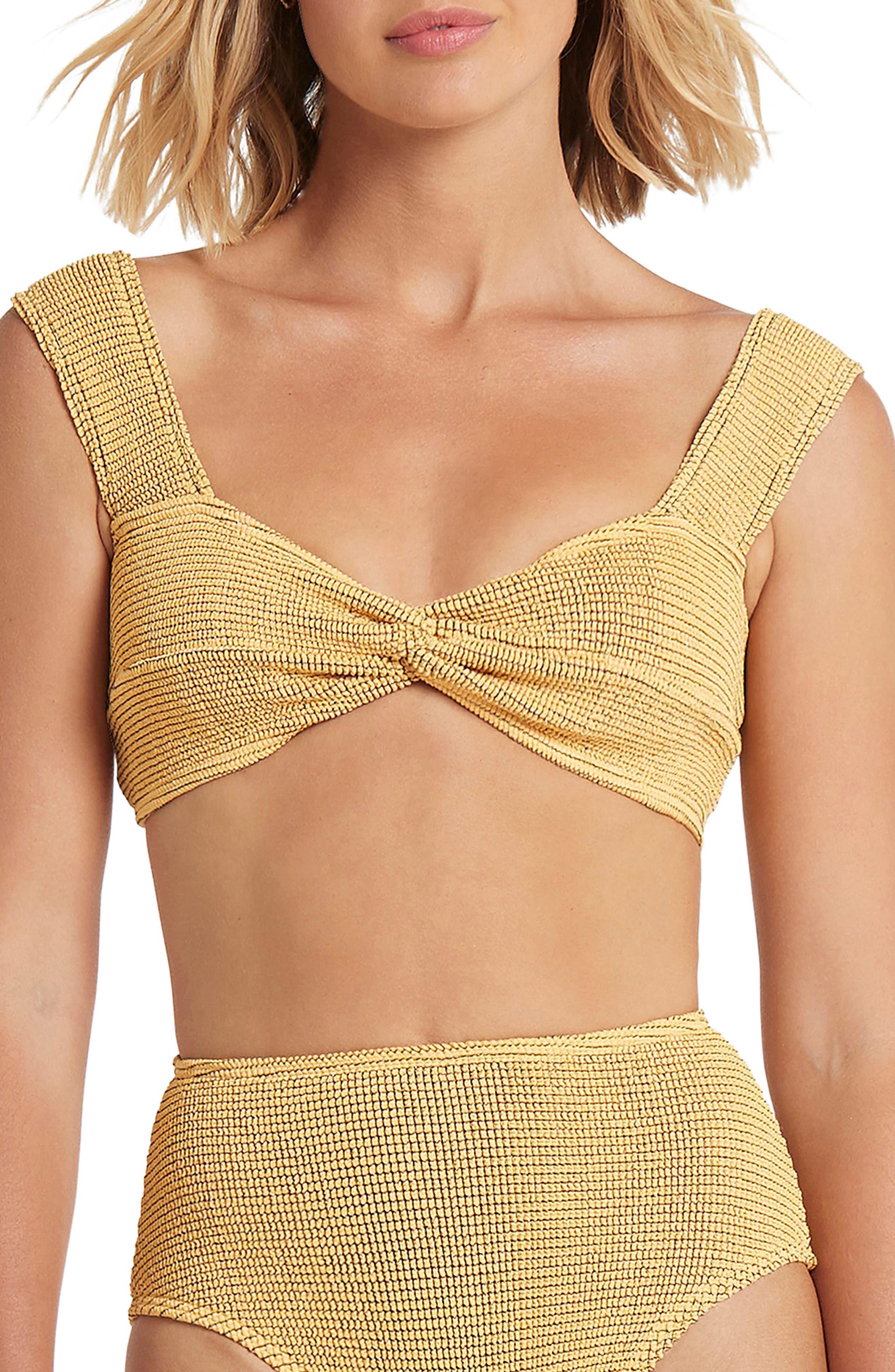 The Sonny Twist Front Crop Bikini Top