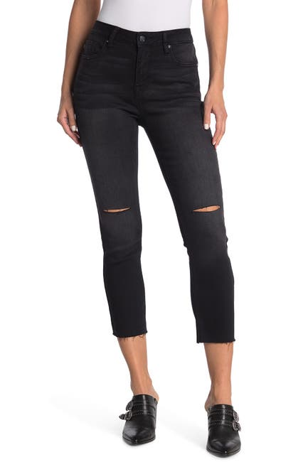 Image of Vigoss Stevie Cropped Straight Leg Jeans w/ Deconstructed Knees