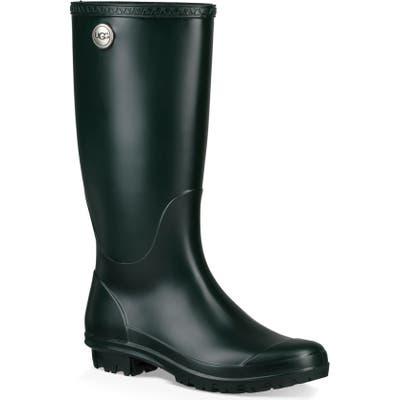 UGG Shelby Matte Waterproof Rain Boot, Green
