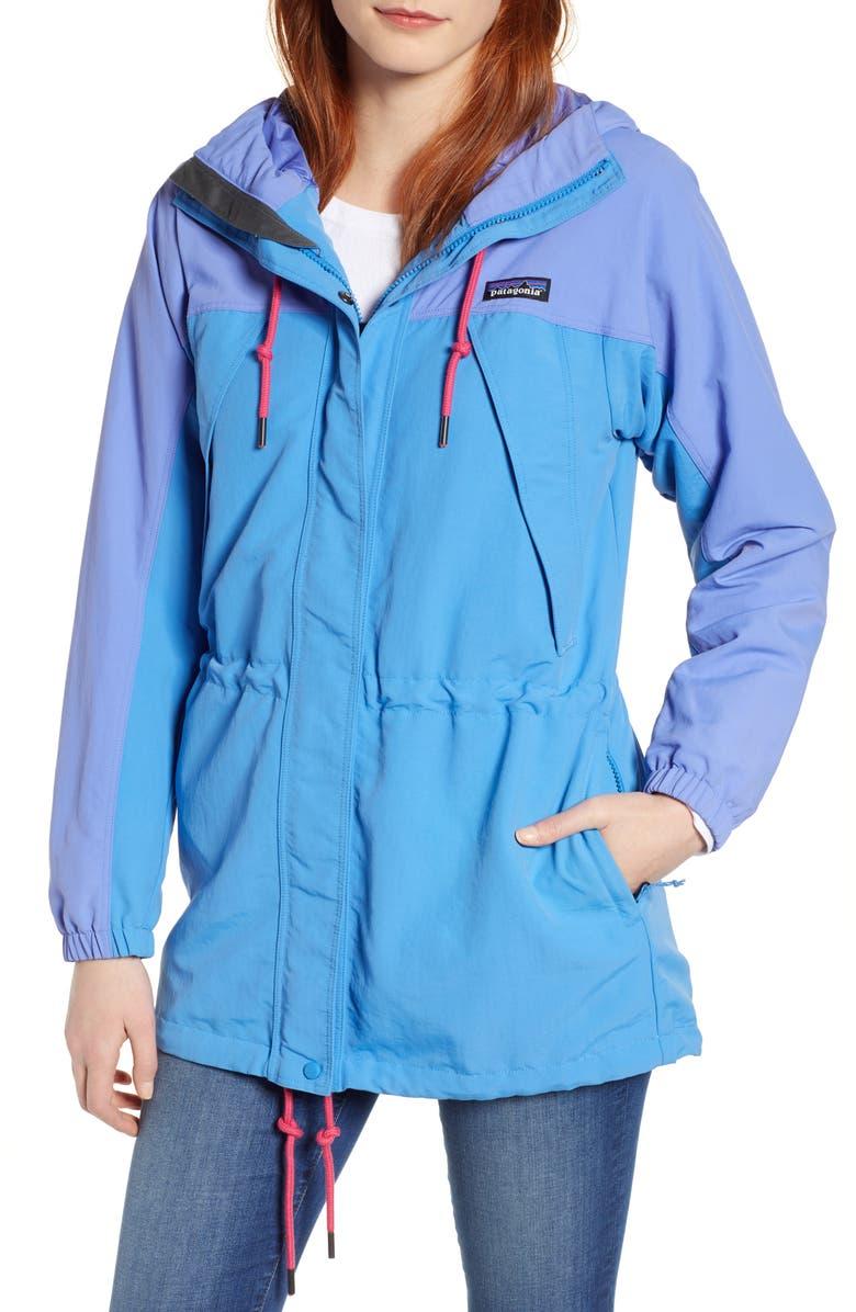 PATAGONIA Skyforest Water Repellent Hooded Jacket, Main, color, PORT BLUE