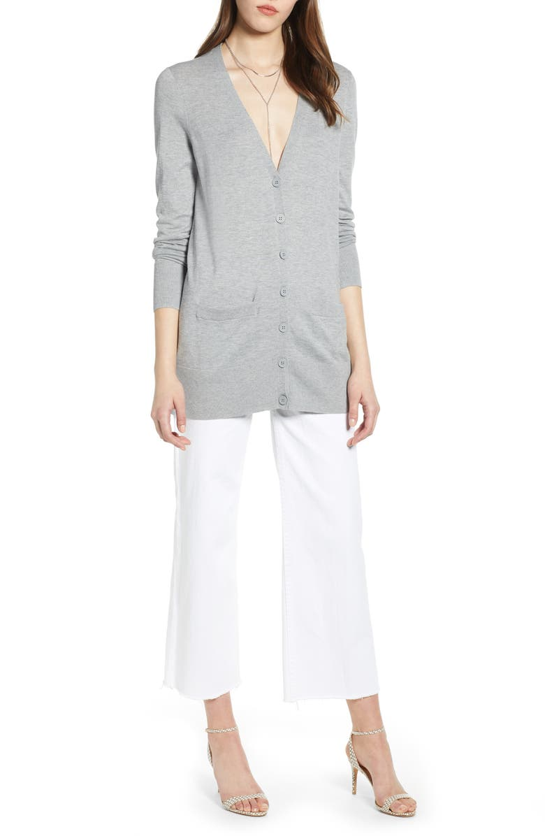 HALOGEN<SUP>®</SUP> Button Front Cardigan, Main, color, 030