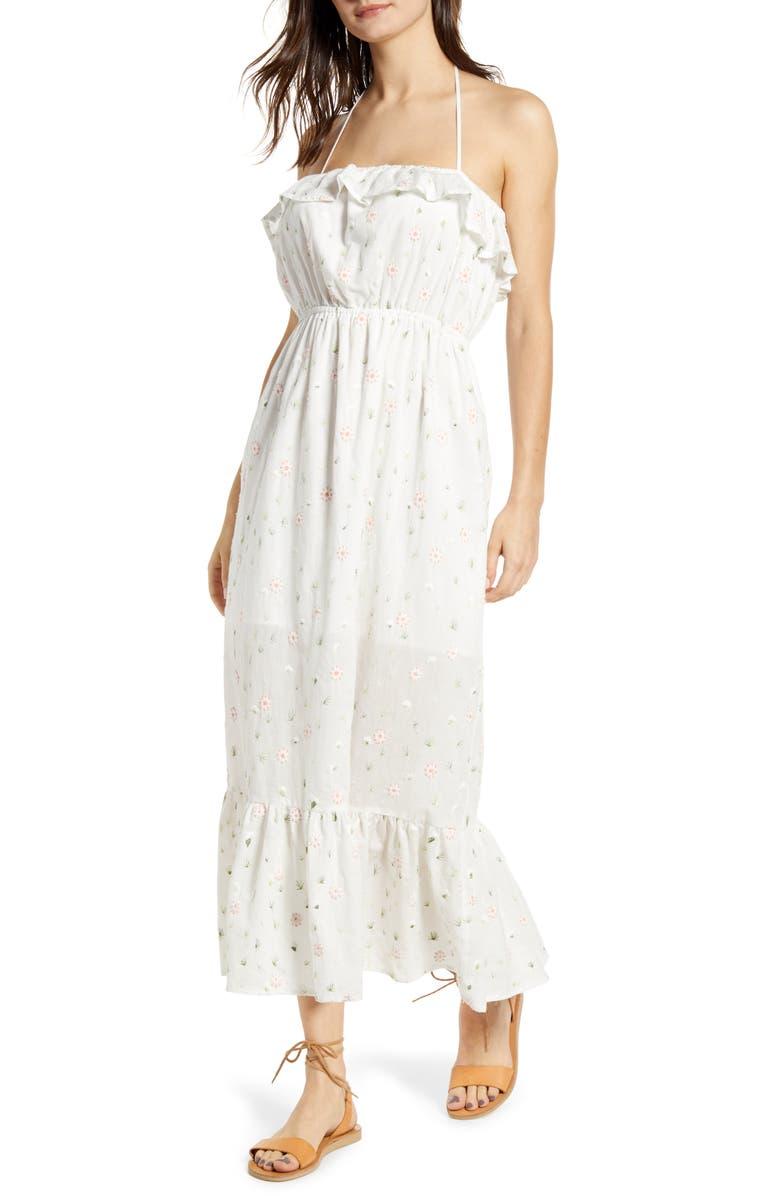 d9f2d8c7cbc09 English Factory Floral Embroidery Cotton Blend Midi Dress | Nordstrom