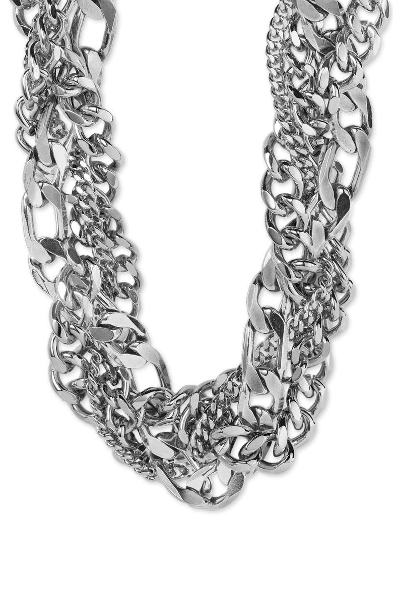 NORDSTROM Braided Chain Necklace, Main, color, 040