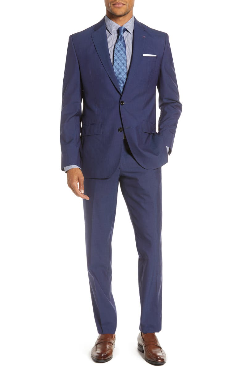 TED BAKER LONDON Jay Trim Fit Suit, Main, color, BLUE