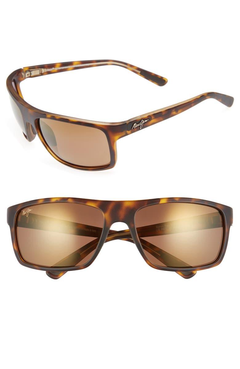 MAUI JIM Byron Bay 62mm Polarized Sunglasses, Main, color, MATTE TORTOISE/ BRONZE