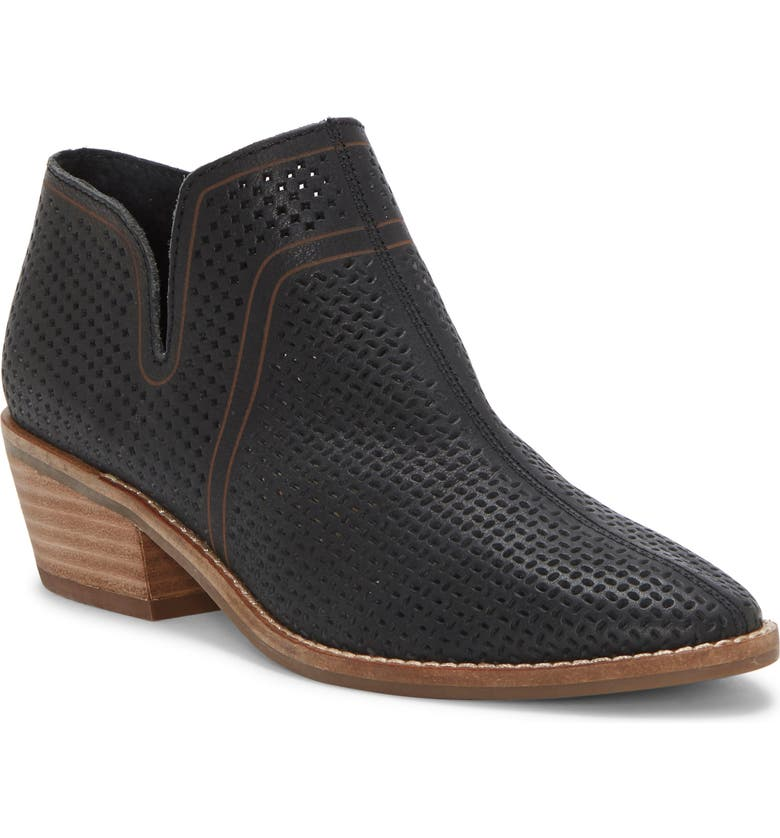 LUCKY BRAND Feyan Bootie, Main, color, BLACK LEATHER