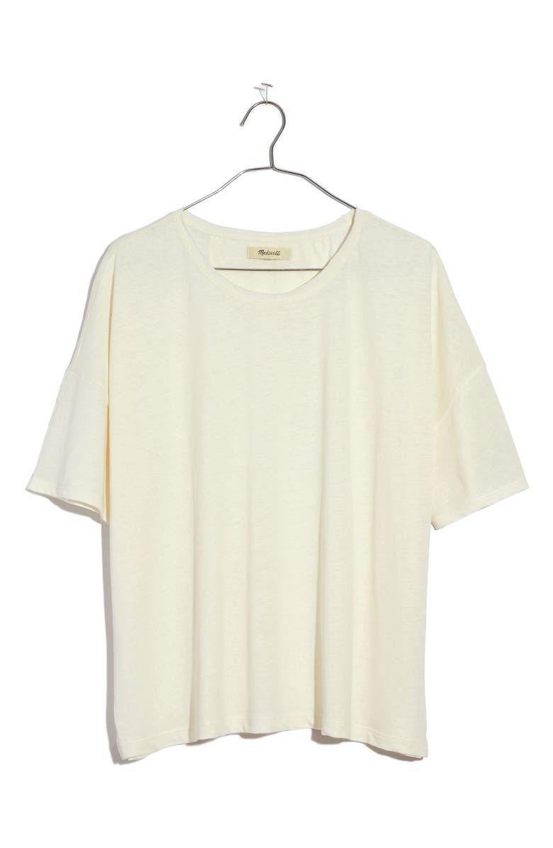 MADEWELL Raw Edge Hangout T-Shirt, Main, color, LIGHTHOUSE