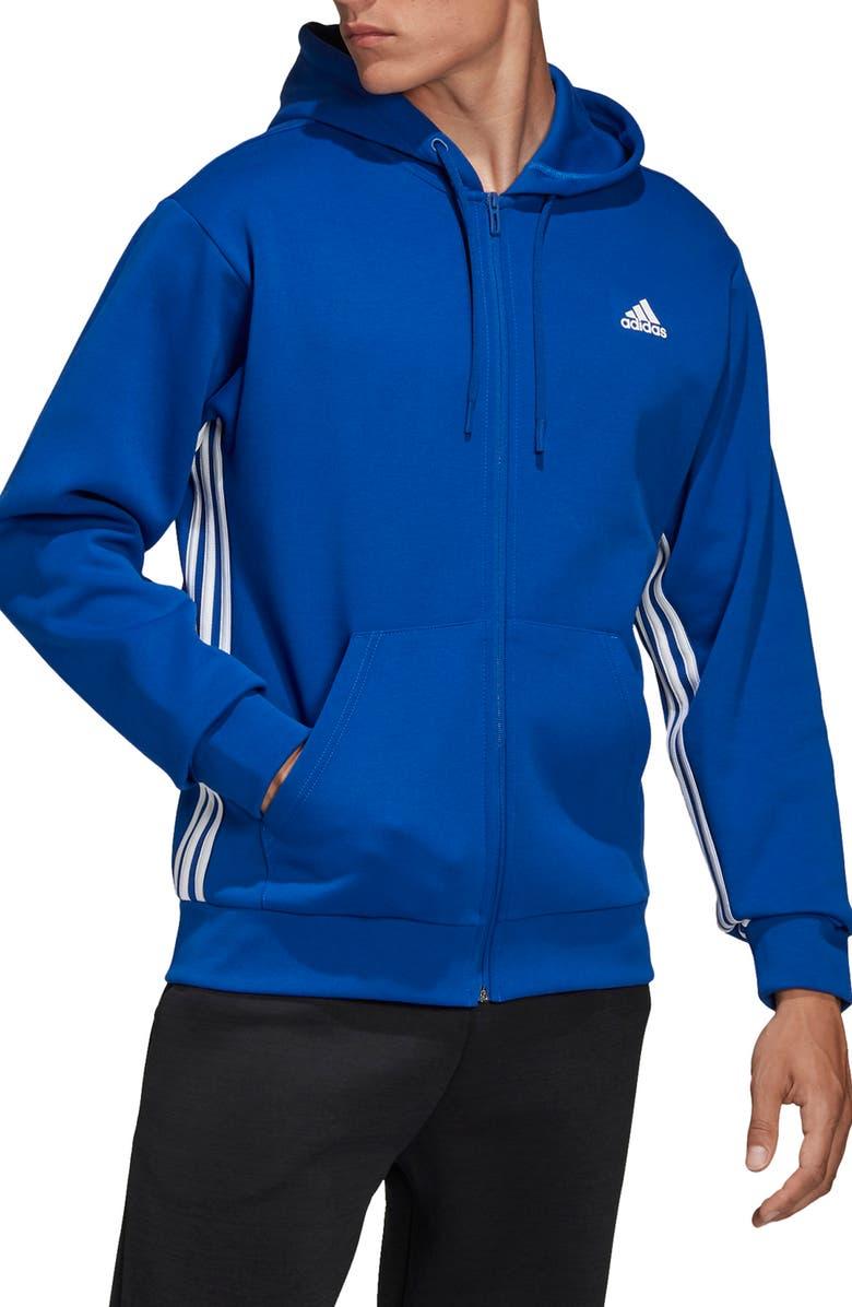 ADIDAS 3-Stripes Zip Hoodie, Main, color, COLLEGIATE ROYAL