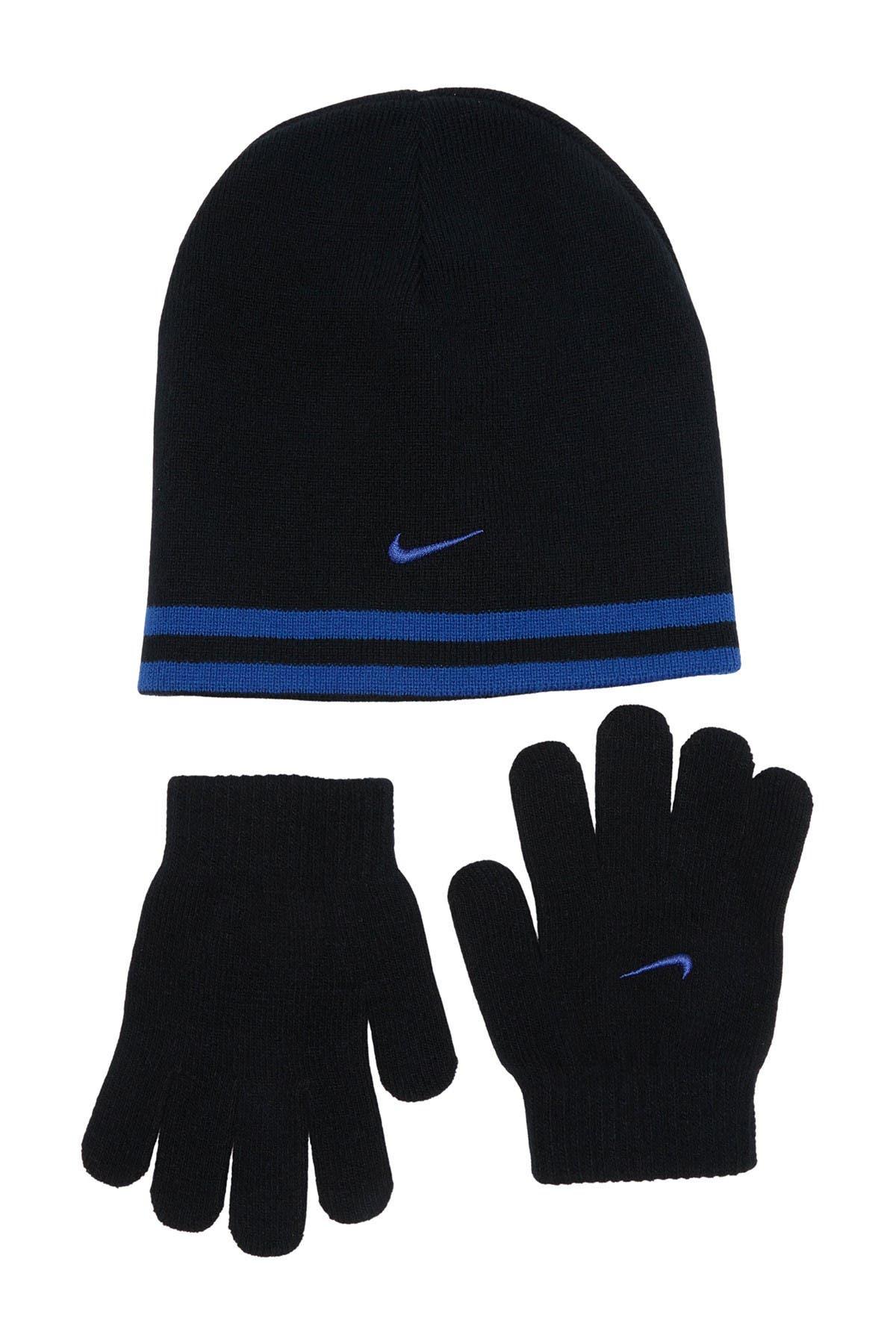 Image of NIKE SB Reverse Strip Gloves & Beanie Set
