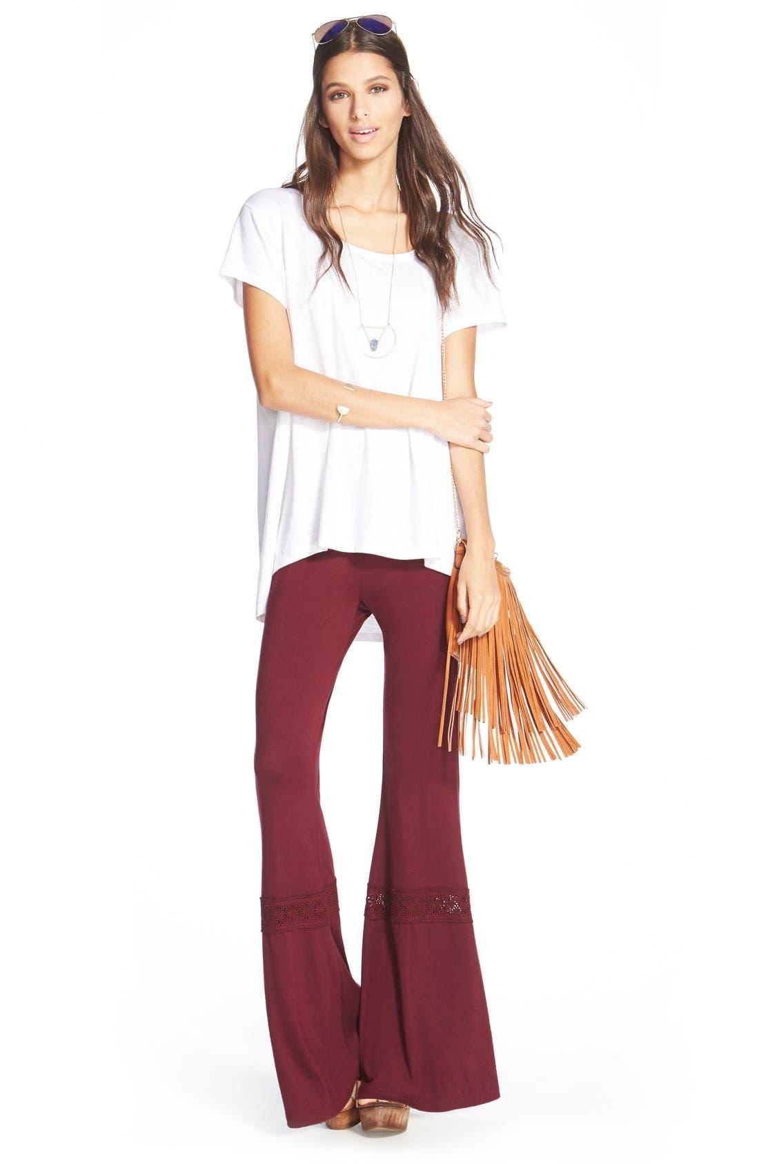 ,                             'Rose' Fringe Faux Leather Convertible Crossbody Bag,                             Alternate thumbnail 6, color,                             200