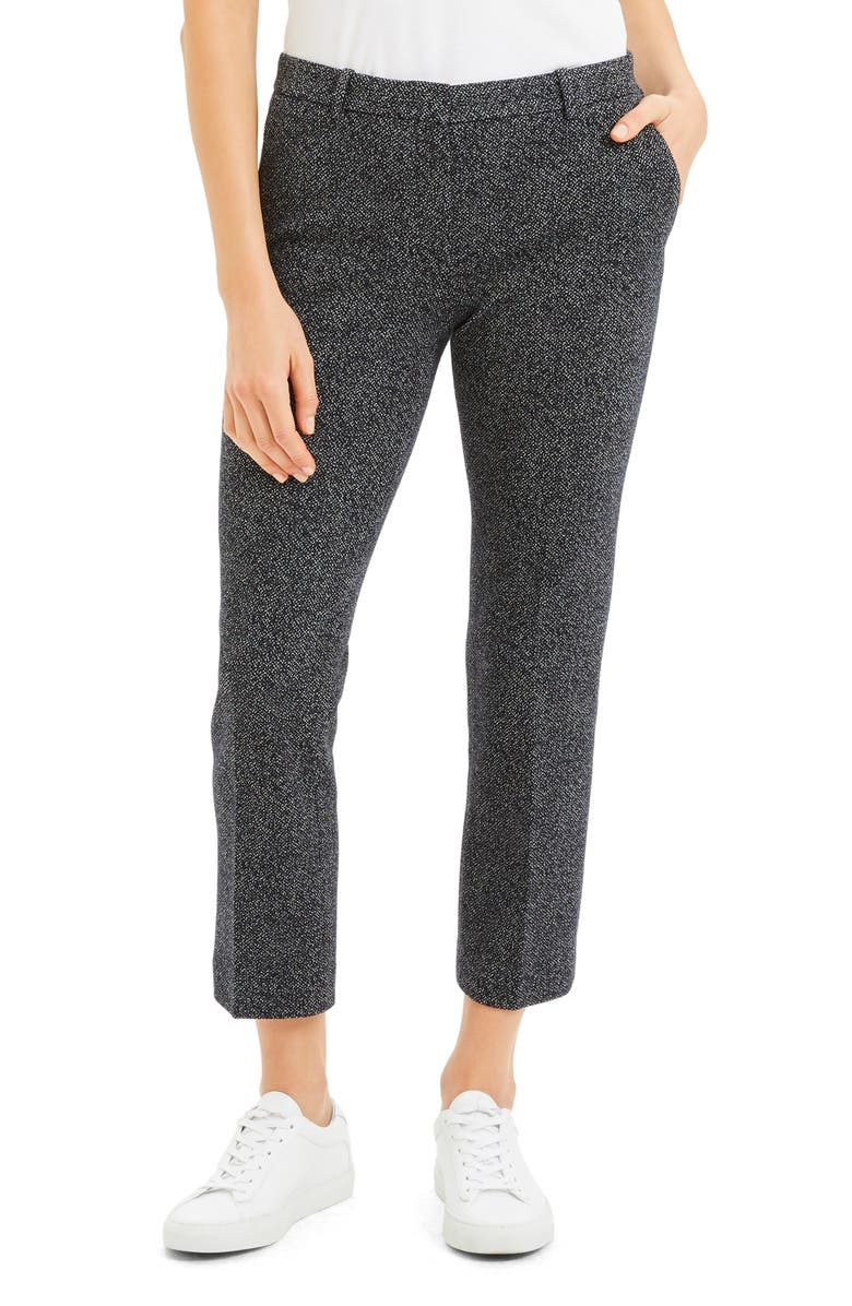 THEORY Speckled Tweed Trousers, Main, color, NAVY MULTI