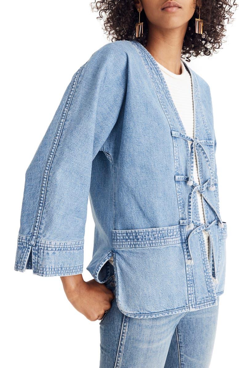 MADEWELL Denim Kimono Chore Jacket, Main, color, 400