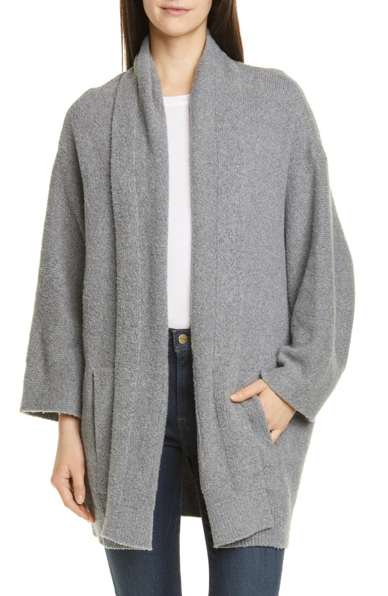 VINCE Textured Open Cardigan, Main, color, 062
