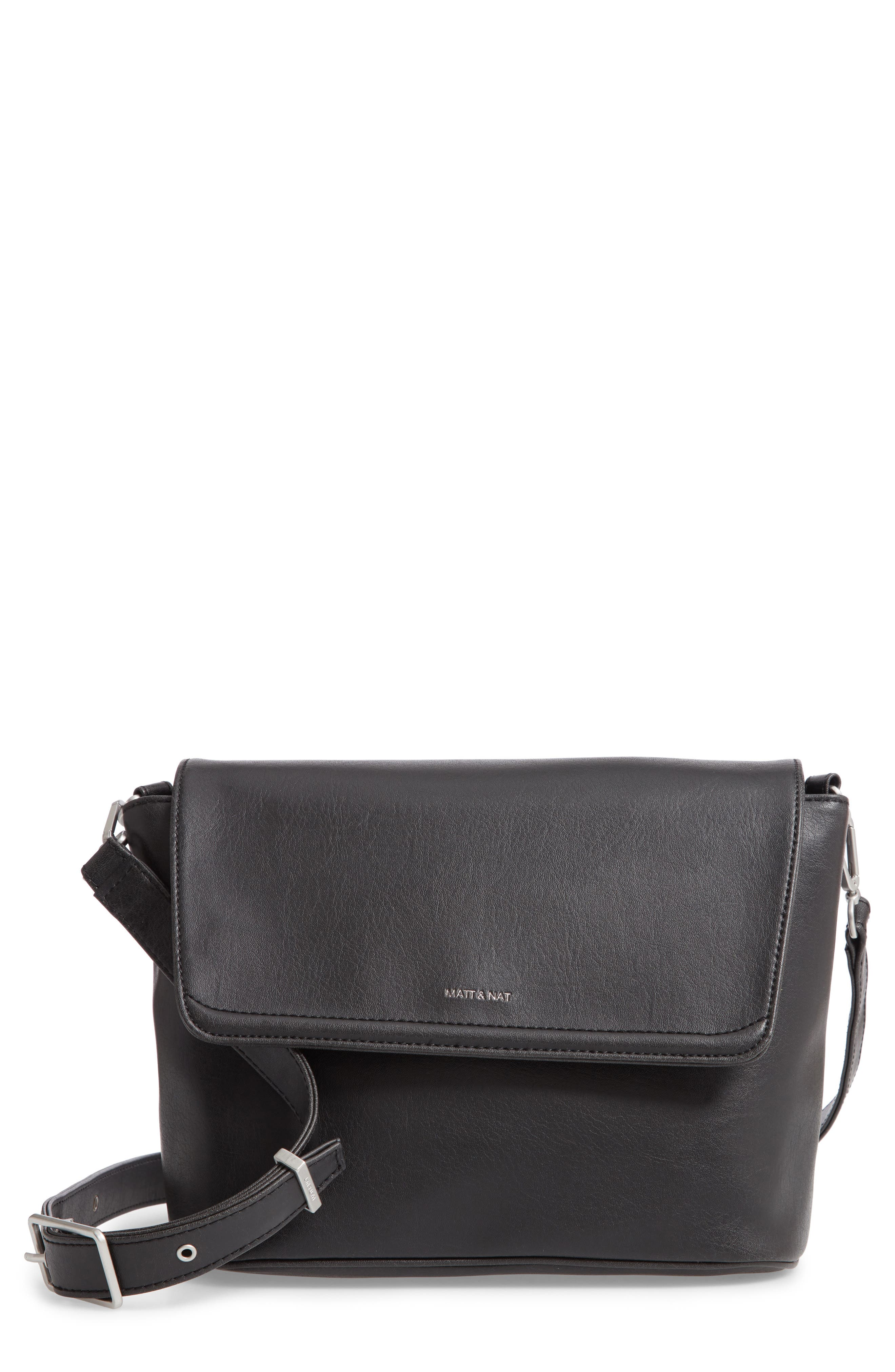 Matt & Nat Reiti Faux Leather Crossbody Bag - Black