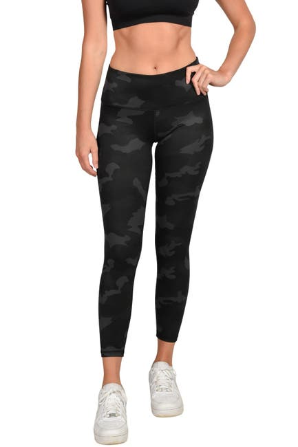 Image of 90 Degree By Reflex Lux Camo High Waisted Ankle Leggings
