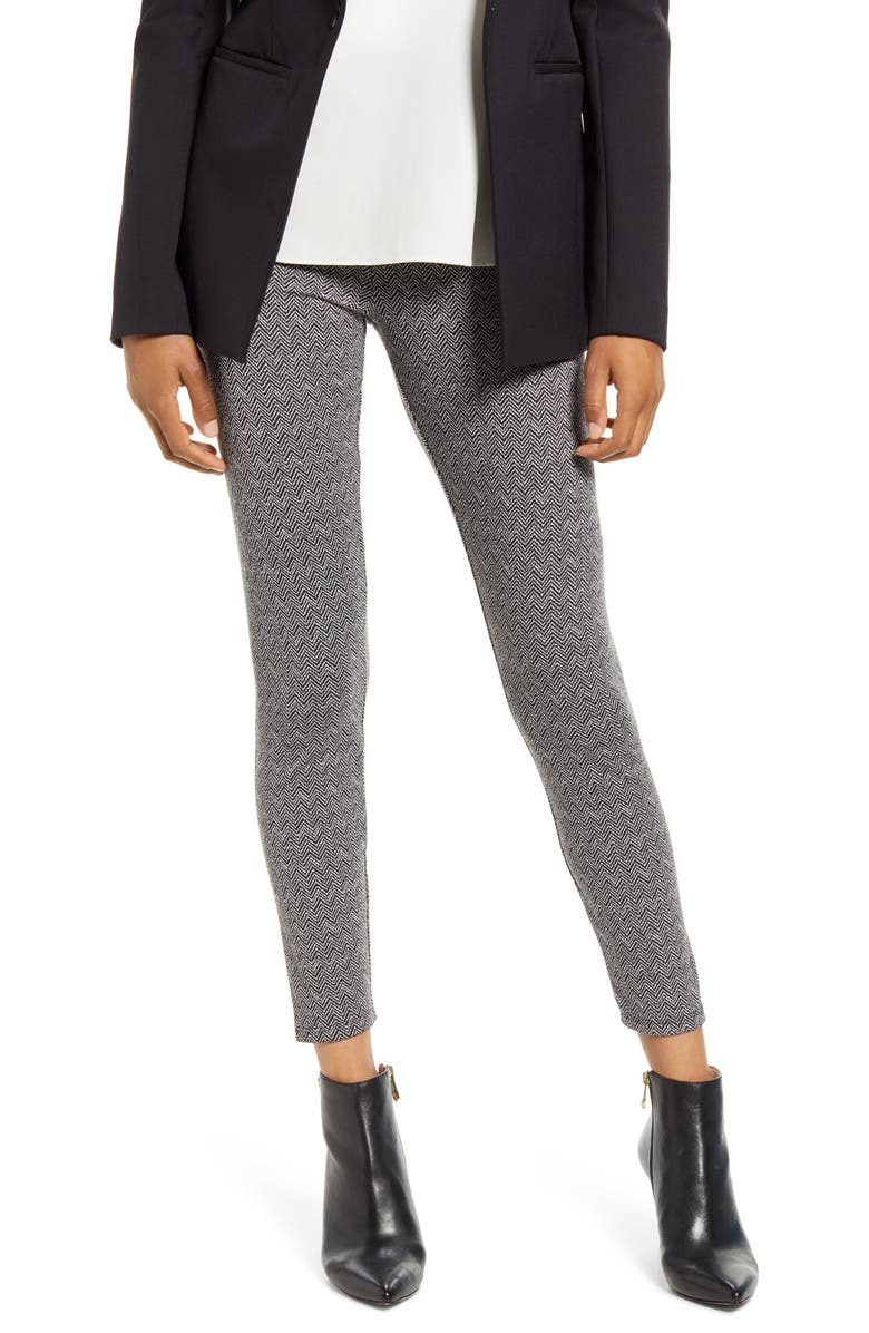 LYSSÉ Signature Patterned Leggings, Main, color, HERRINGBONE