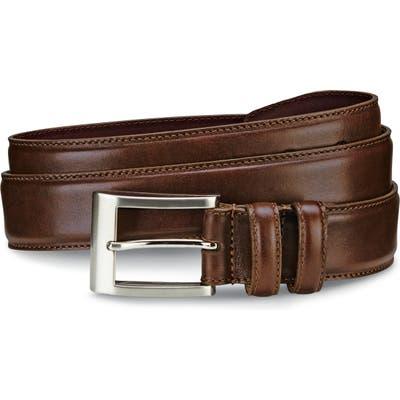 Allen Edmonds Wide Leather Belt, Coffee
