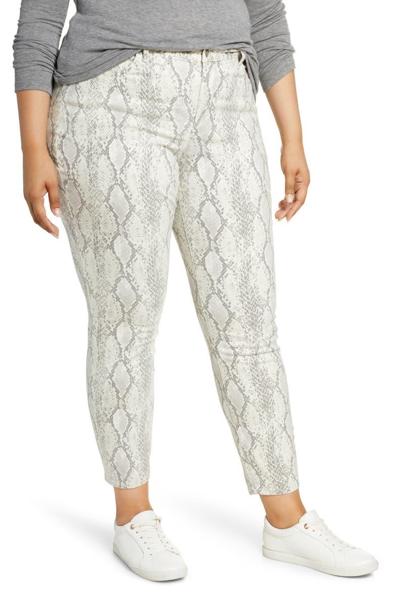 NYDJ Ami Snake Print Skinny Jeans, Main, color, DIAMONDBACK VANILLA