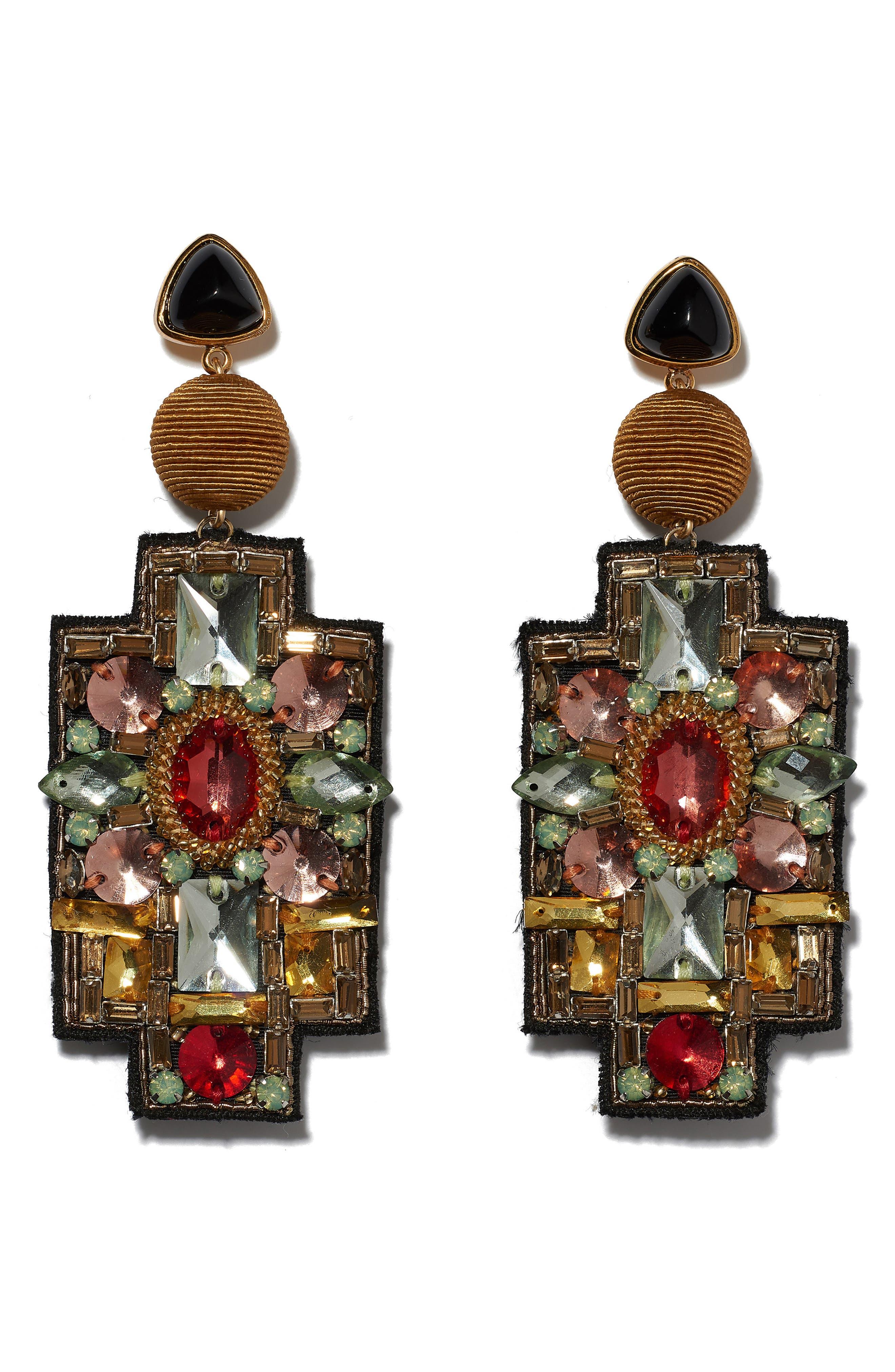 Madonna Earrings, Main, color, GOLD MULTI