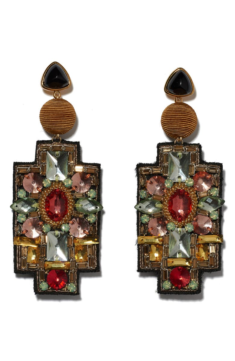 LIZZIE FORTUNATO Madonna Earrings, Main, color, 710