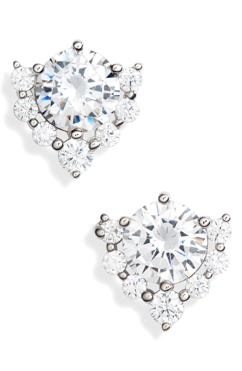 NORDSTROM Cubic Zirconia Cluster Stud Earrings, Main, color, 040